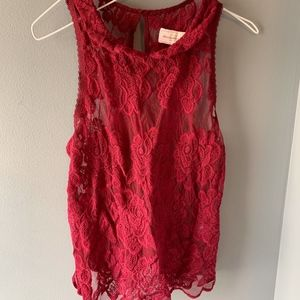 Abercrombie & Fitch maroon tank size Small